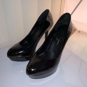 Shoes - Jessica Simpson Black Peep Toe Heels